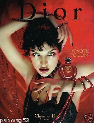 Publicité advertising 1999 Parfum Hypnotic Poison De Dior