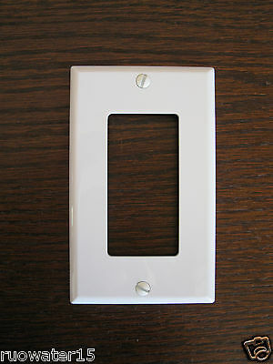 "3 Leviton 1-Gang 4.5"" x2.8"" White Decora GFCI Receptacle Wallplate Outlet Cover"