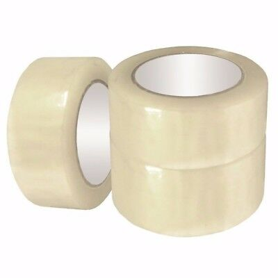 "6 Rolls 2"" Wide 55 Yd / 165 Ft 2.0 MIL Packing Box Carton Shipping Clear Tape"