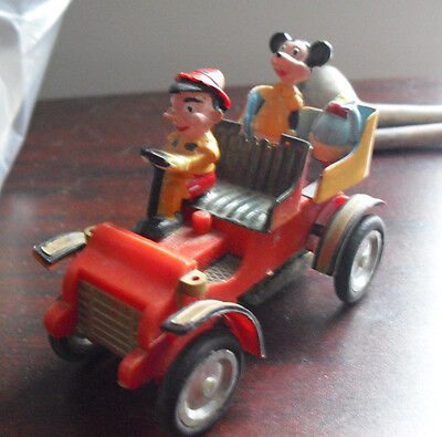 RARE Vintage 1960s Marx Disney Pinocchio Mickey Donald in Car Friction Toy
