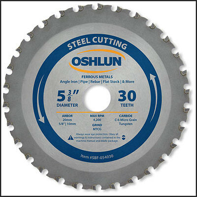 Oshlun SBF-054030 5-3/8-Inch 30 Tooth/20mm Arbor With 5/8-Inch/10mm Bushings