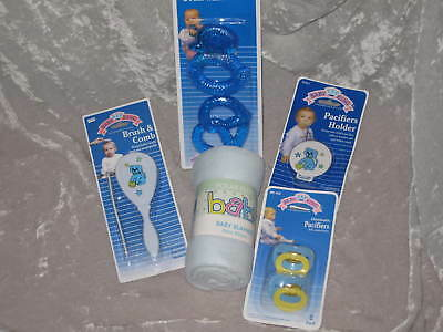 Baby Pacifiers Holder Blanket Brush Comb Teether NEW!