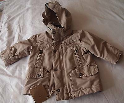 TIMBERLAND - Baby Boys 6M (6-12M) BEIGE REMOVABLE HOOD PADDED JACKET/PARKA NWT