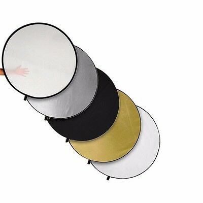 """5in1 60cm/24"""" Photo Photography Studio Multi Light Reflector Collapsible Disc"""