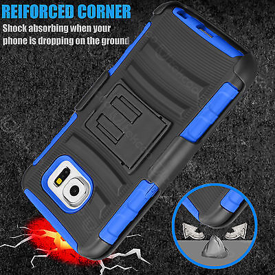 For Samsung Galaxy S7/S7 Edge Rotating Holster Belt Clip Shock Absorb Stand Case