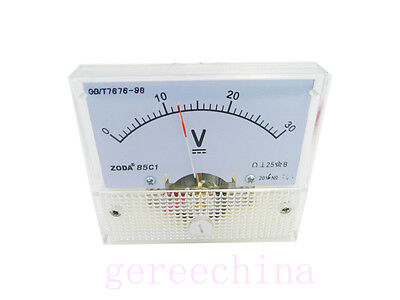 DC 5v -30V Voltmeter Gauge DC 3V 5V 12v 24V Analog Volt Voltage Panel Meters