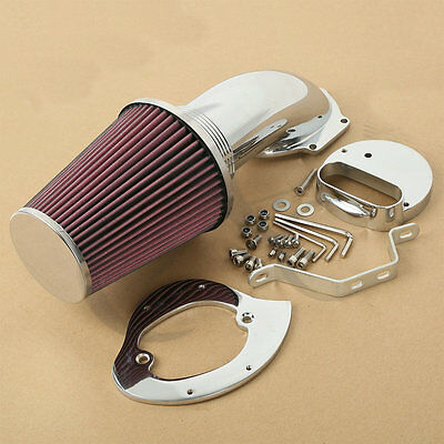 New Chrome Cone Air Cleaner Intake Filter Kits For Yamaha Dragstar Vstar 99-up