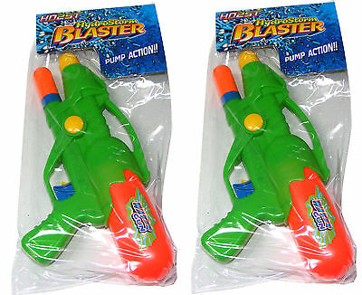 2 x CHILDRENS KIDS WATER PISTOL PISTOLS GUN GUNS HYDRO STORM BLASTER PUMP ACTION
