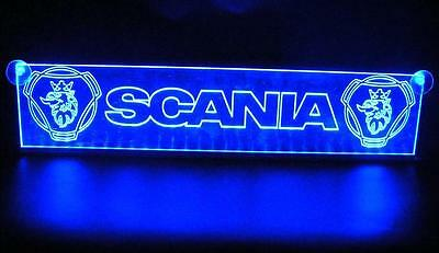 24V Blue LED Interior Cabin Light Plate for Scania Trucks Neon Table Sign Lamp