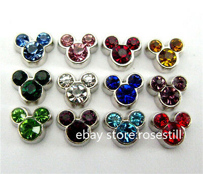 10pcs Birthstone Floating charms For Glass living memory Locket FC529