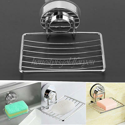 Strong Suction Cup Wall Washed Soap Holder Dish Basket Tray Bathing Shower Shelf