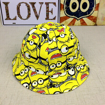 Kids Boys Minions Toddler Sunny Buckler Bucket Cap Round Hat Gift Accessory 2-8Y