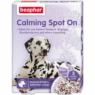 Beaphar Dog Calming Spot On Anxiety Relief Reduces Problem Behaviour In Dogs