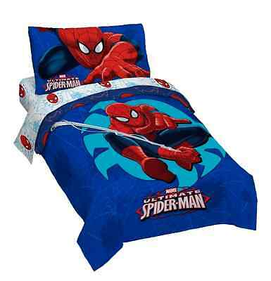 Spider Man Toddler Bed set Comforter Sheets Pillowcase Bedding Bedspread Covers