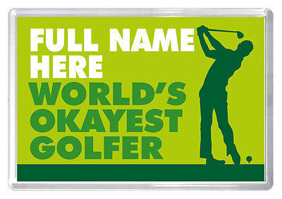 Golf birthday gift novelty fridge magnet ANY NAME husband dad boyfriend brother