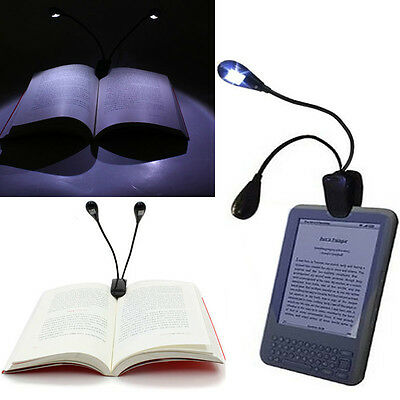 Clip On LED Arm Reading Book Light Laptop Music Stand iPad Tablet PC Travel Lamp