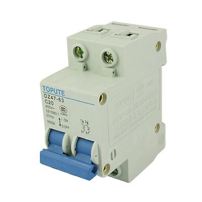 Shortcircuit Protector 2 Pole MCB Air Circuit Breaker
