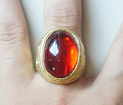 Thai Amulets Ring Red Magic Rich Succes Love Charm Weath Protection Worship