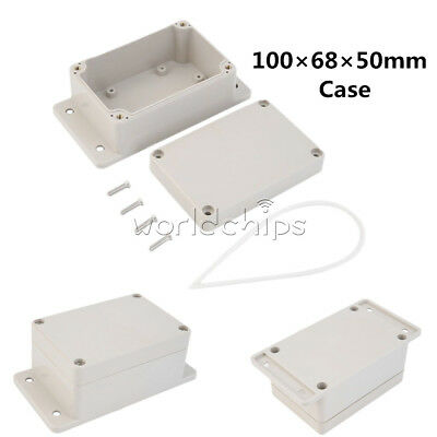 Waterproof 100 x 68 x 50mm Plastic Electronic Project Box Enclosure Case New