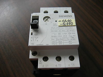 Siemens 3VU1300-1TL00 Manual Motor Starter (6 to 10 Amp)