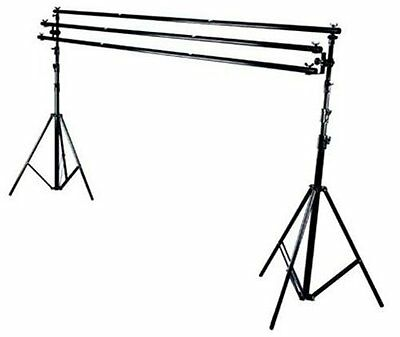 New photo studio tripple cross bar backdrop stand support system 7ft x 10 ft kit