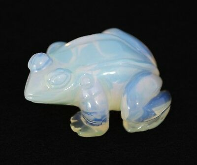 Fabulously Carved Gemstone Frog - Opalite - Collectible - A must have!!