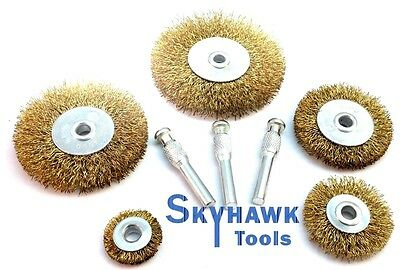 8-pc Wire Wheel Brush Assorted Metalworking Polishing Set Arbor Size 1/4""