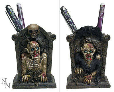 Zombie Pen Pot Walking Dead Grave Desk Top Tidy Gothic Horror New