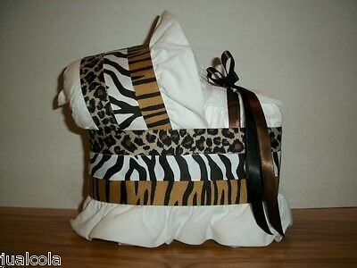 Jungle Theme Boy Neutral Diaper Bassinet Baby Shower Safari Decoration Zebra