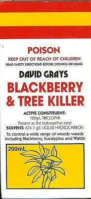 Blackberry and Tree Killer 200mL David Grays Triclopyr Herbicide Weed Garden