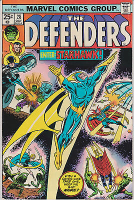 The Defenders #26 # 27  #28 (Oct 1975, Marvel) High Grade Cameo & 1st Starhawk