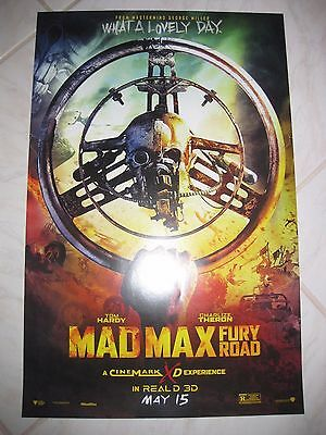 MAD MAX FURY ROAD 2015 Cinemark Exclusive Original Promo Mini Movie Poster