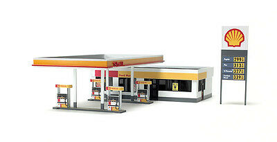 SUMMIT SHELL SERVICE STATION 165x100x40mm N 1/160 scale milled plastic Kit SH002