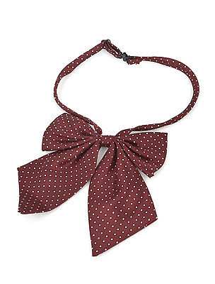 Dots Pattern Bowknot Detailing Adjustable Neck Strap Bow Tie for Women