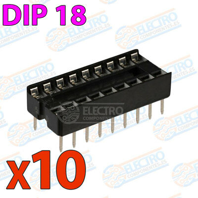 10x Zocalo integrado 18 PINs DIP 18 Socket doble contacto DIP18