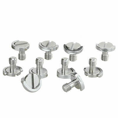 """10PCS 1/4"""" D Ring Screw Stainless Steel for Camera Monopod Quick Release Plate"""