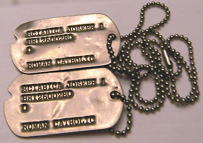 """Dog Tags, """"br"""" (Army Enlisted Reserve) - Catholic              (#17)"""