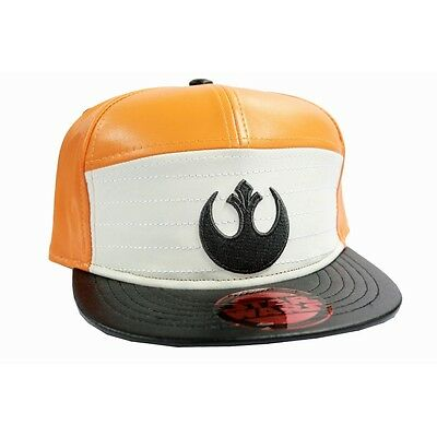 b6c8e2d046b Official Star Wars - Rebel Alliance Symbol Orange And White Pu Snapback Cap  Hat
