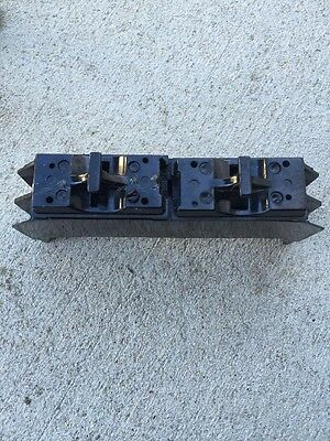 New Federal Pacific Fpe 301G  60A 120/240V Fuse Block With 2 30A Fuse Pullouts