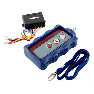 Hot 12V DC Wireless Remote Control Kit Blue For Car Jeep ATV Winch 50FT