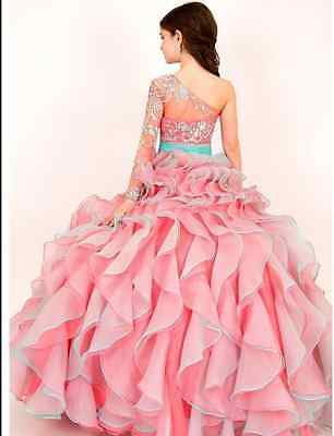 Girl Dress Princess Kids Pageant Party Dance Wedding Birthday Gown 2 -14