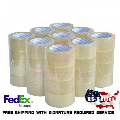 "36 Rolls Quality Box Carton Sealing Packing Packaging Tape 2""x110 Yards 2mil"