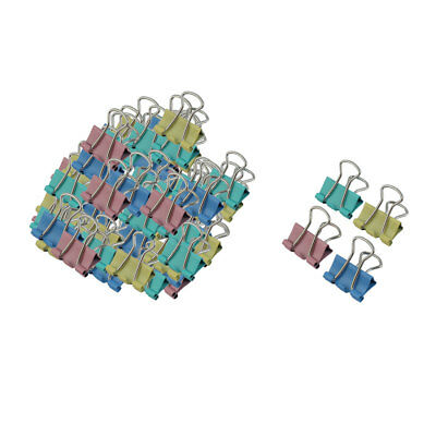 Office Metal Spring-Loaded File Document Organize Binder Clips 15mm 60pcs