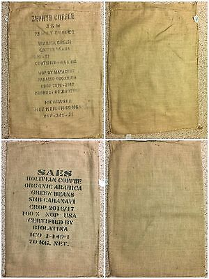 12 XL Burlap Coffee Bags for Fall Decor, Crafts, Wreaths, Gardening and More