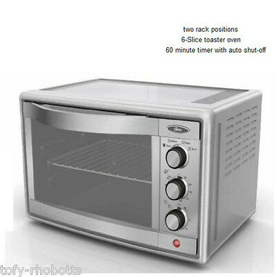 Convection Pizza Oven Toaster Brushed Stainless Steel Countertop Kitchen Cooking