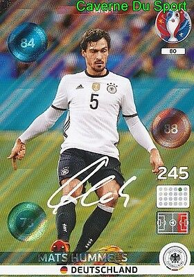 080 Mats Hummels Deutschland Germany Signature Card Adrenalyn Euro 2016 Panini