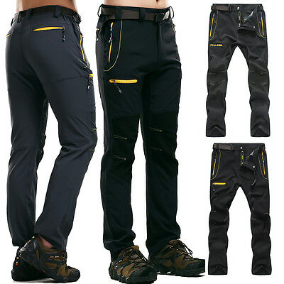 Outdoor Pants Overall Men Breathable Waterproof Hiking Climbing Long Trousers
