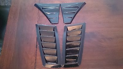 Focus Rs Mk2 Style Abs Plastic Bonnet Vents And Wing Vents Kit Abs *universal*