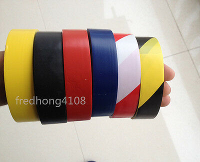 Stripe PVC Hazard Self Adhesive Caution Warning Tape 24mmx17.5m