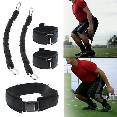 5Pcs Basketball Vertical Jump Trainer Leap Training Resistance Band Trainers Set